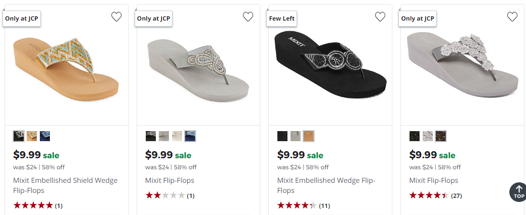 d71c613f6 JCPenney   Over 75% Off Women s Sandals Today Only!