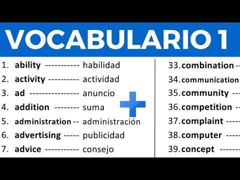 100 Palabras Importantes En Inglés Y Su Significado En Español Con Pronunciación Vocabulario 8 Youtube Vocabulario En Ingles Pronunciacion Ingles Ingles