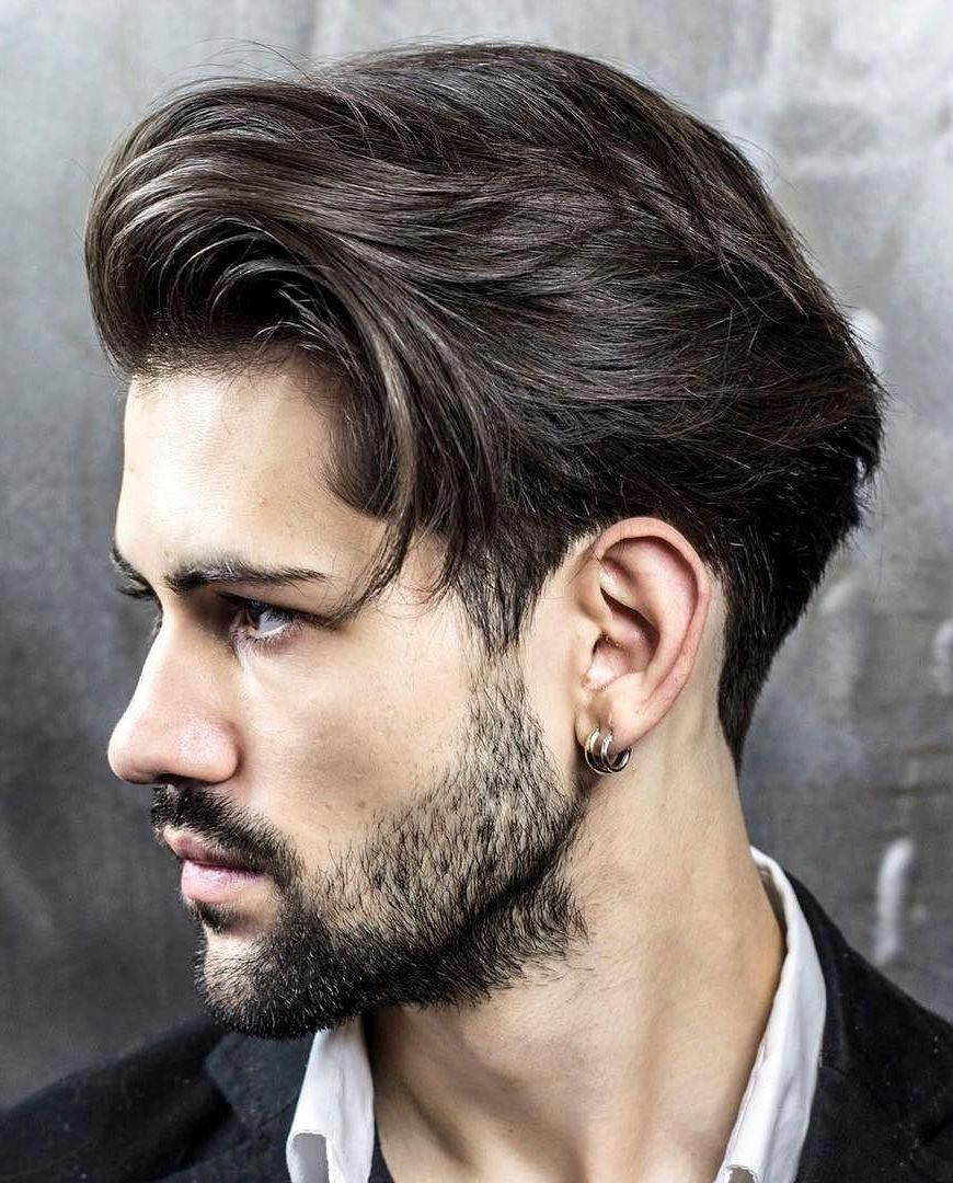 Medium Side Swept Haircut Menshairstyles Classic Mens Hairstyles Long Hair Styles Men Mens Hairstyles Medium
