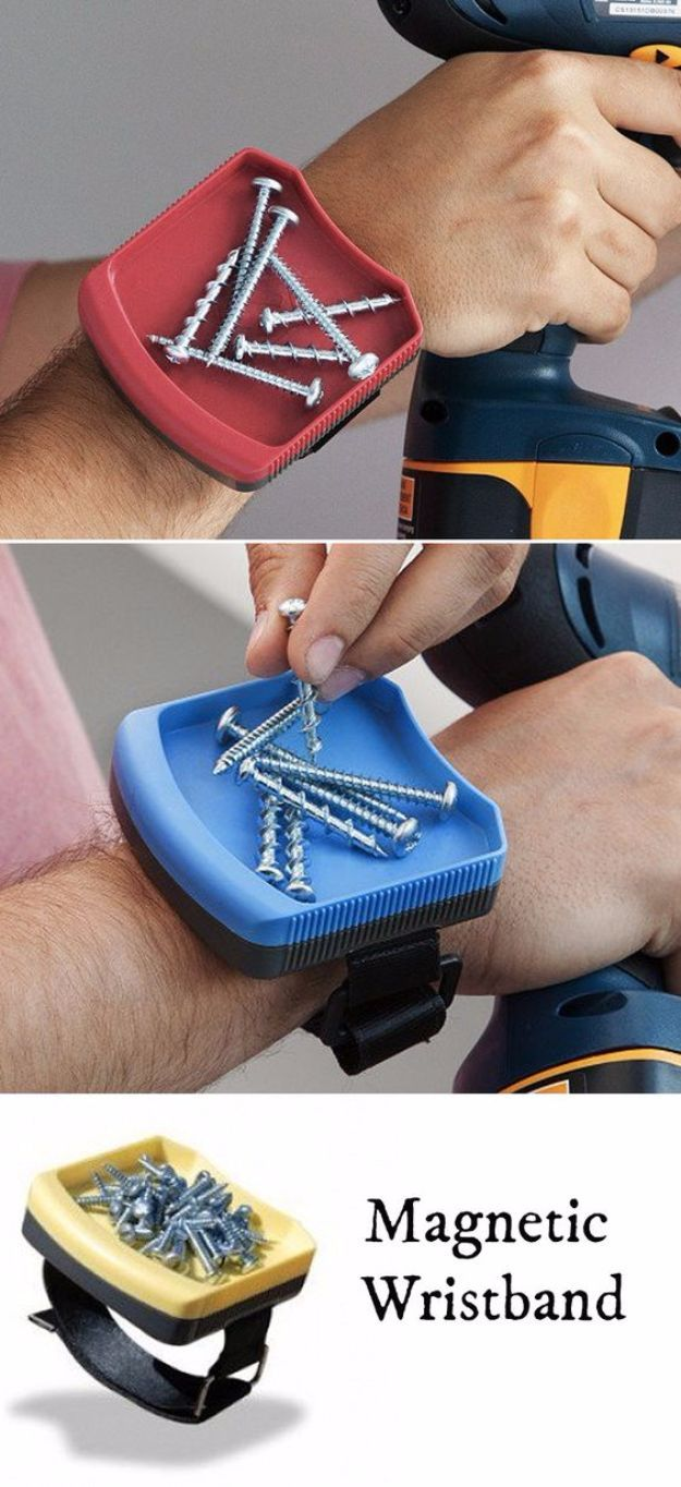 DIY Gadgets - Magnetic Wristband- Homemade Gadget Ideas and Projects for Men, Women, Teens…