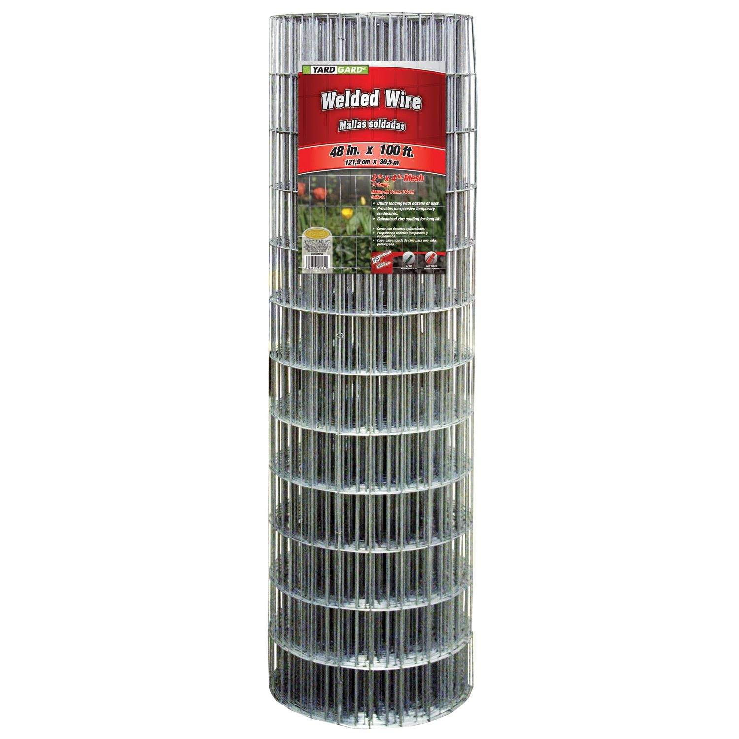 Yard Gard 48 Inches X 100 Feet Galvanized Welded Mesh