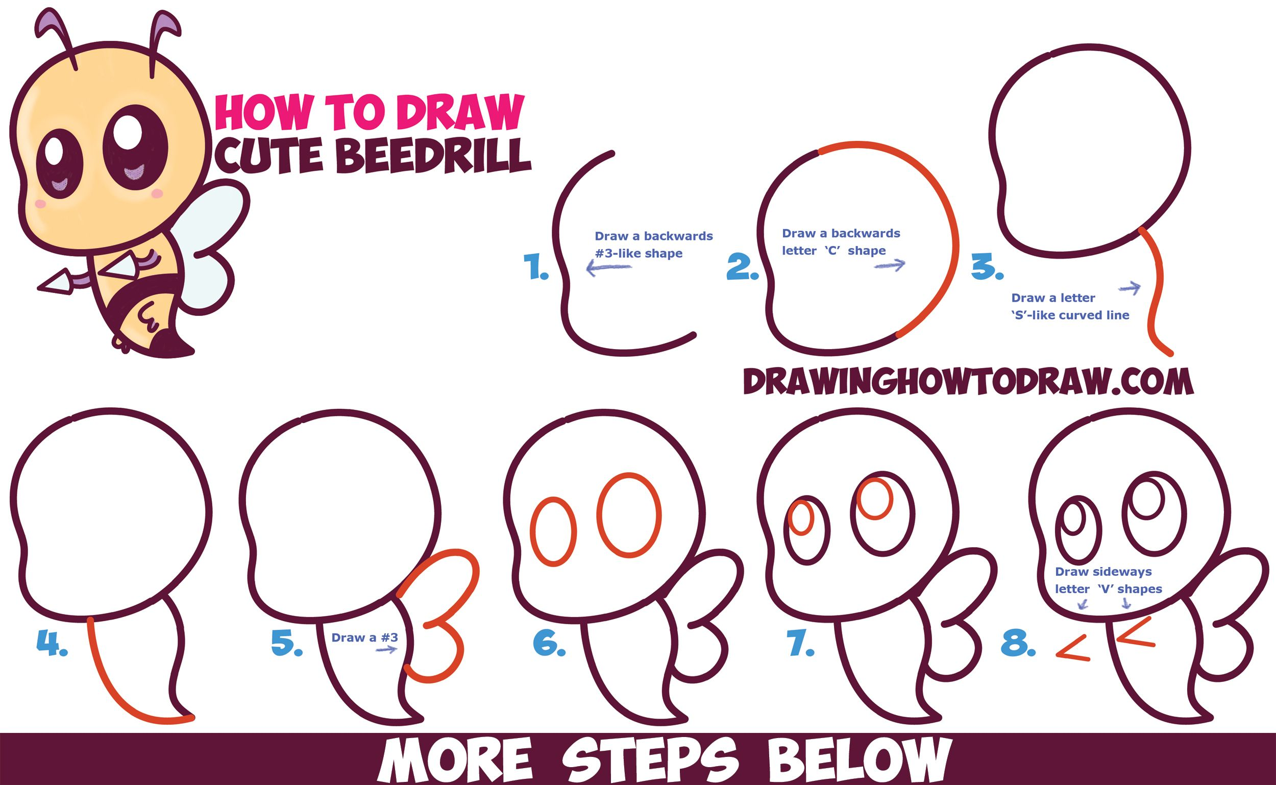 Uncategorized Simple Pokemon To Draw how to draw cute chibi kawaii beedrill from pokemon easy step by drawing