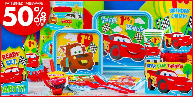 My Sons First Birthday Theme Disney Cars 1st Party Supplies Decorations