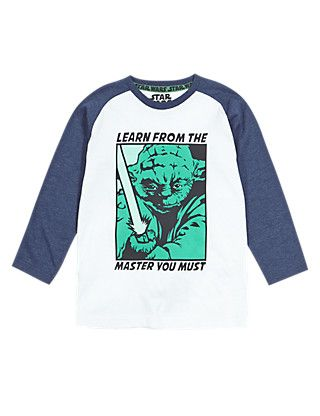 Star Wars™ Yoda Glow In The Dark Long Sleeve T-Shirt (2-8 Years