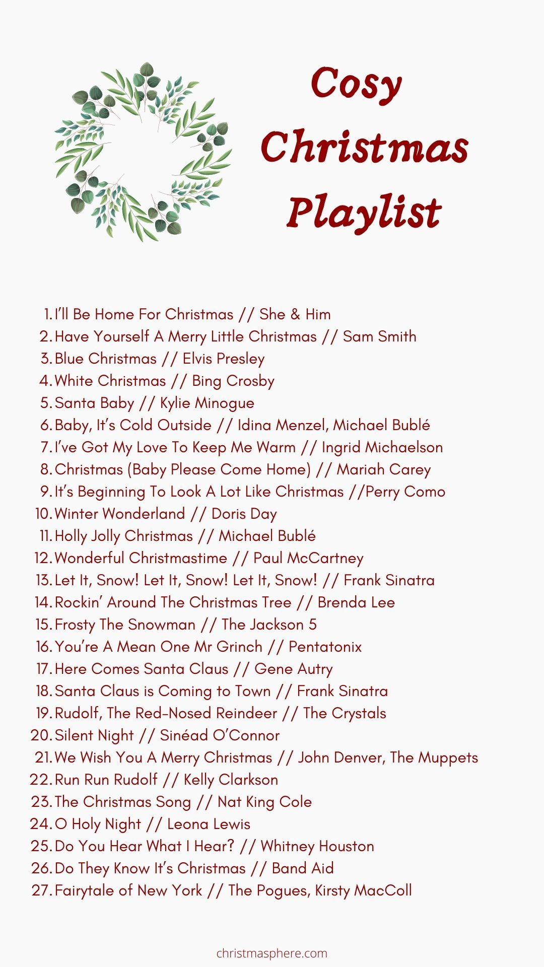 Cosy Christmas Playlist Christmas Hits To Cosy Up To In 2020 Christmas Playlist Cosy Christmas Christmas Songs Playlist