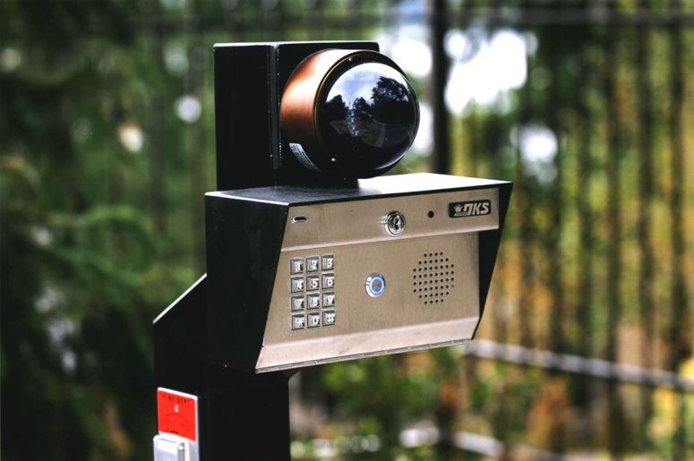 Telephone Entry With Security Camera Gate Iron Custom