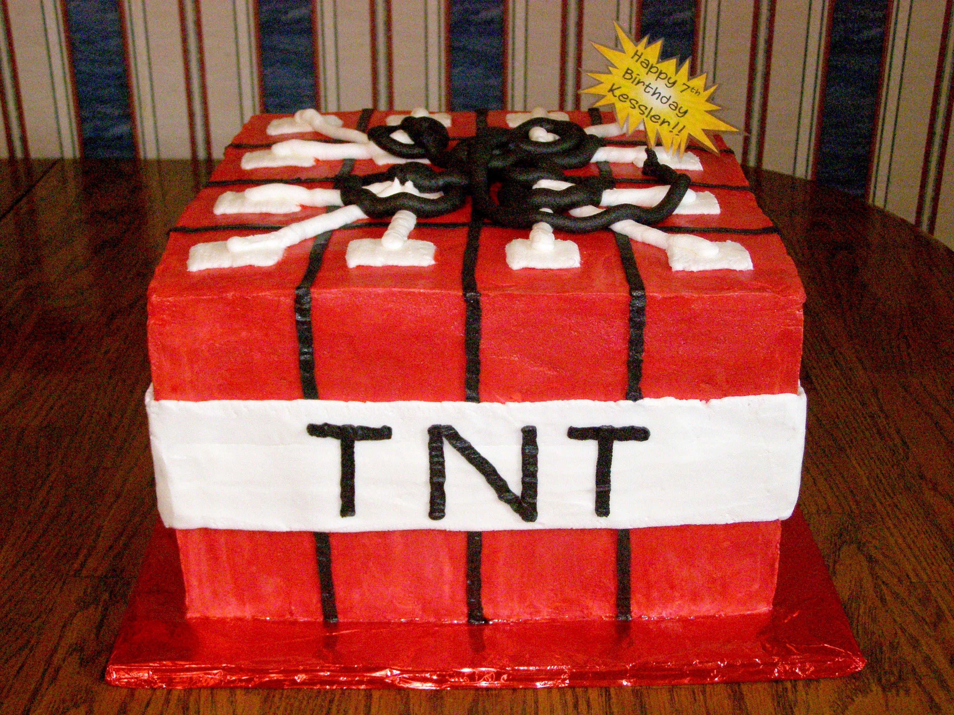 Minecraft Tnt Cake Dynamite My Characterlicensed Cakes