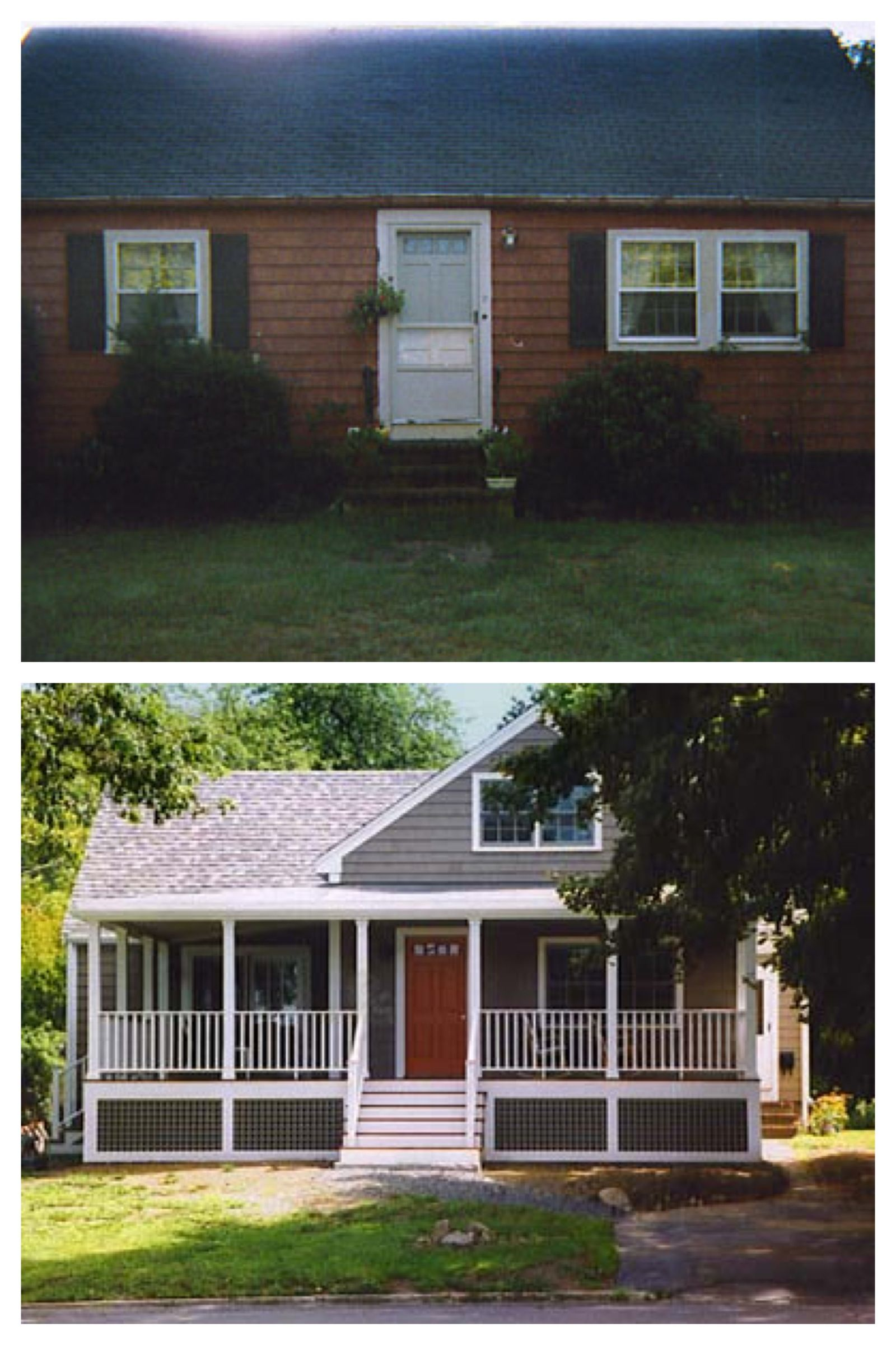 Exterior remodel before and after screened porch exterior remodel home remodeling exterior for Before and after home exteriors remodels