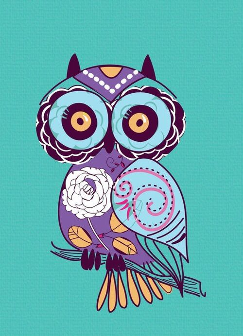 Image via We Heart It #<3 #art #cool #cute #decor #illustration #love #owl #owls #xoxo