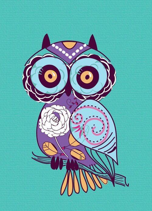 Image via We Heart It #<3 #art #cool #cute #decor #illustration #love #owl #owls #xoxo