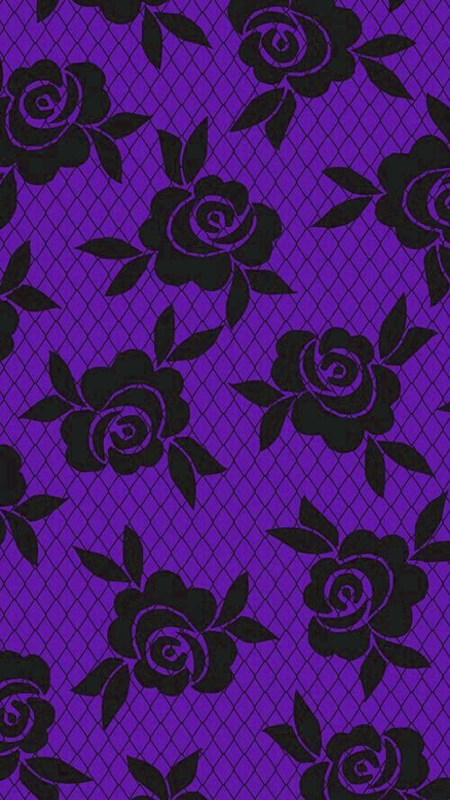 Purple And Black Lace Roses Black And Purple Wallpaper Purple Wallpaper Iphone Purple Wallpaper
