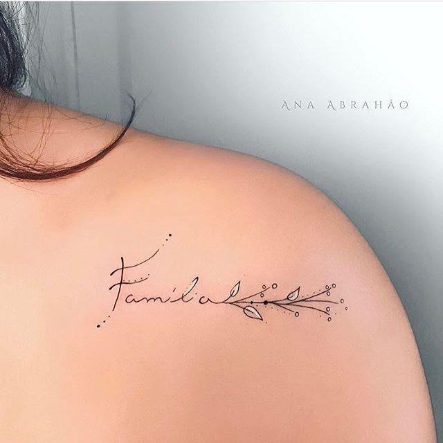Tatuagens Femininas Delicadas Sobre Familia