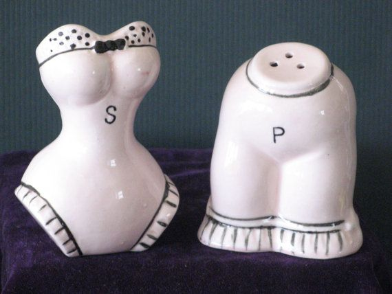 Superb Novelty Salt Pepper Shakers ~ Corset Bloomers ~ Vintage Japan ~ Collectible  Ceramics ~ Home Decor Giftware ~ Im Happy To Be Offering This Fun