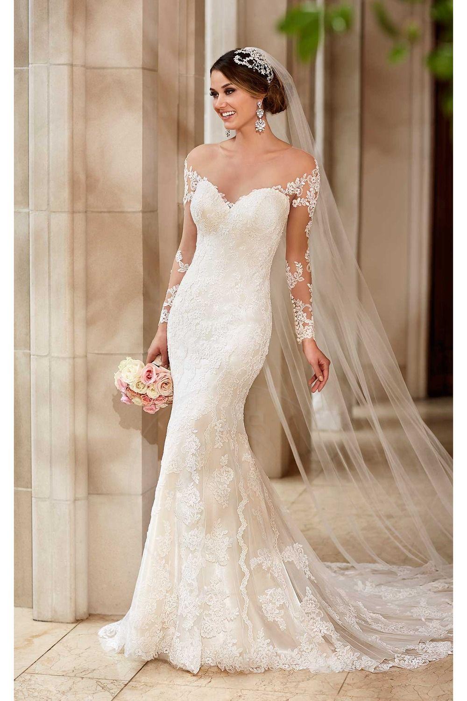 Vestidos de noiva de renda transparente