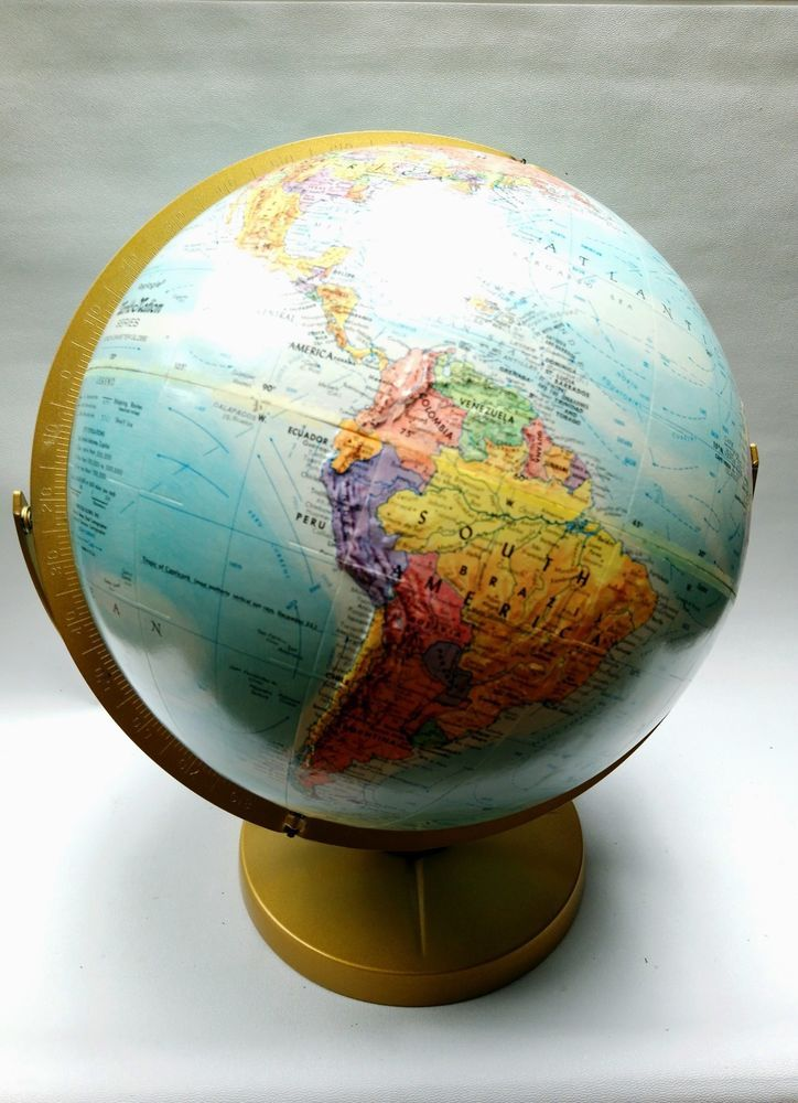 Vintage Globe Replogle 12 Tilt Globe World