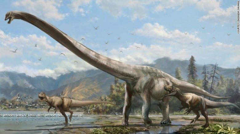 """Por Naomi Ng  Hong Kong (CNN) — Paleontólogos descubrieron una especie de """"dragón"""" dinosaurio de 15,2 metros en China que podría haber estado en la Tierra hace 160 millones de años en el periodo final Jurásico."""