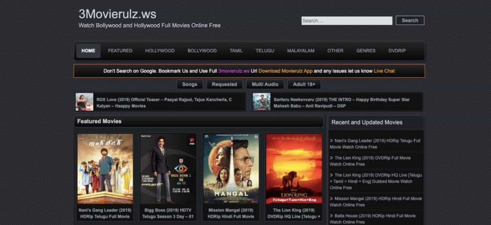 Latest Movies On Movierulz2 Official Site On Sites Like Movierulz2 You Will Get Latest Bollywood Hollyw In 2020 Latest Hollywood Movies Best Movie Sites Tamil Movies