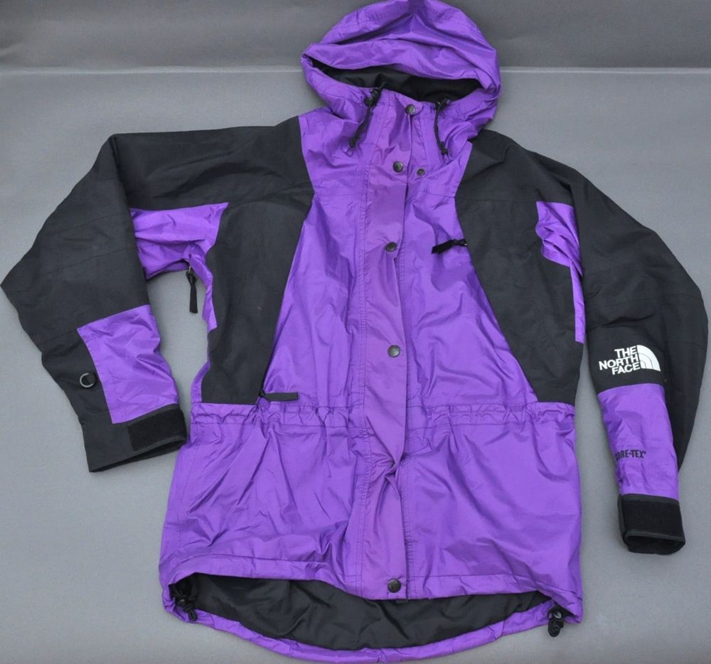 The North Face Hooded Gore Tex Jacket Womens Size Small S Purple Black Thenorthface Raincoat [ 934 x 1000 Pixel ]