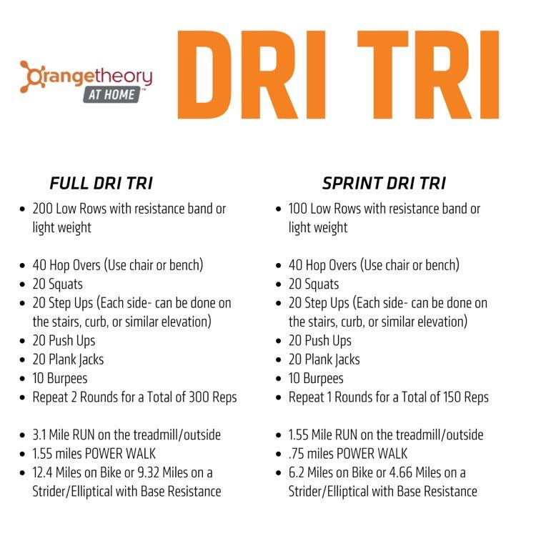 My Region is doing a home Dri Tri if anyone has in