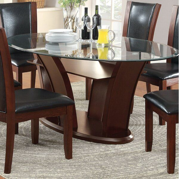 Cushing Dining Table Contemporary Oval Dining Table Dining Table In Kitchen Glass Dining Room Table