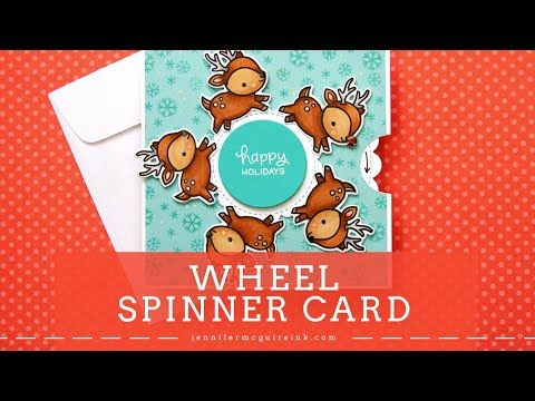 Hello Today I Have A Fun Card For You A Spinning Wheel Card And You Can Likely Make This Wit In 2020 Jennifer Mcguire Cards Jennifer Mcguire Ink Interactive Cards