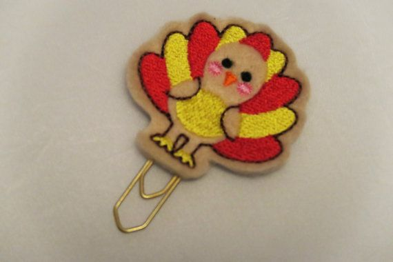 Turkey Planner Clip by EllenBeeMakes on Etsy