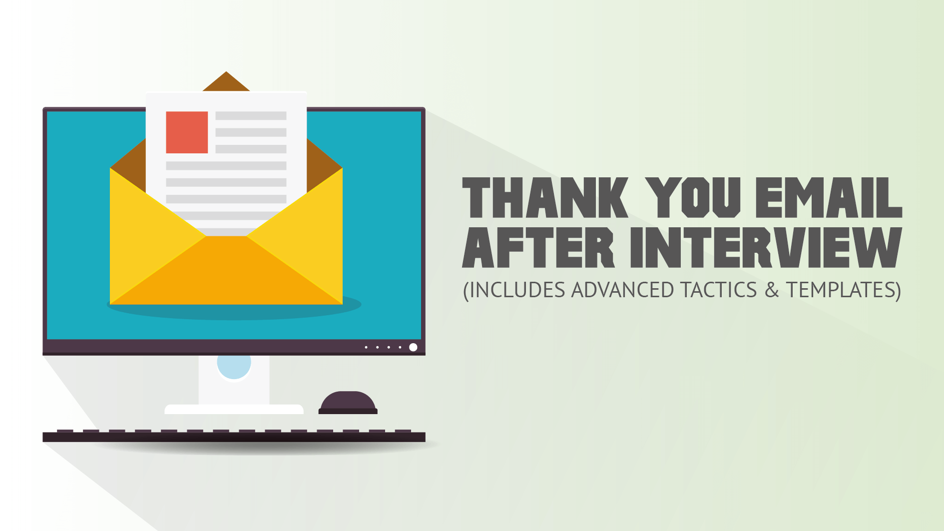 why you should send postinterview thank you emails