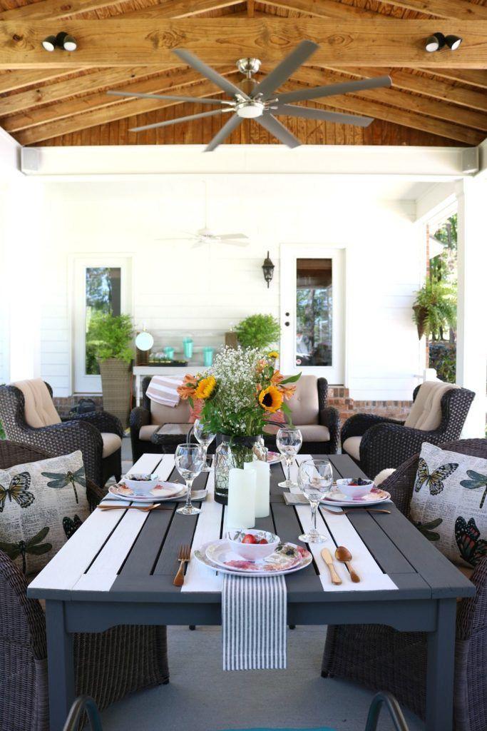 Outdoor Kitchen Build Concrete patios, Farmhouse kitchens and Concrete
