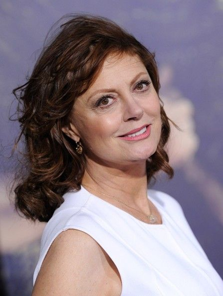 Susan Sarandon Medium Wavy Cut with Bangs | Susan sarandon