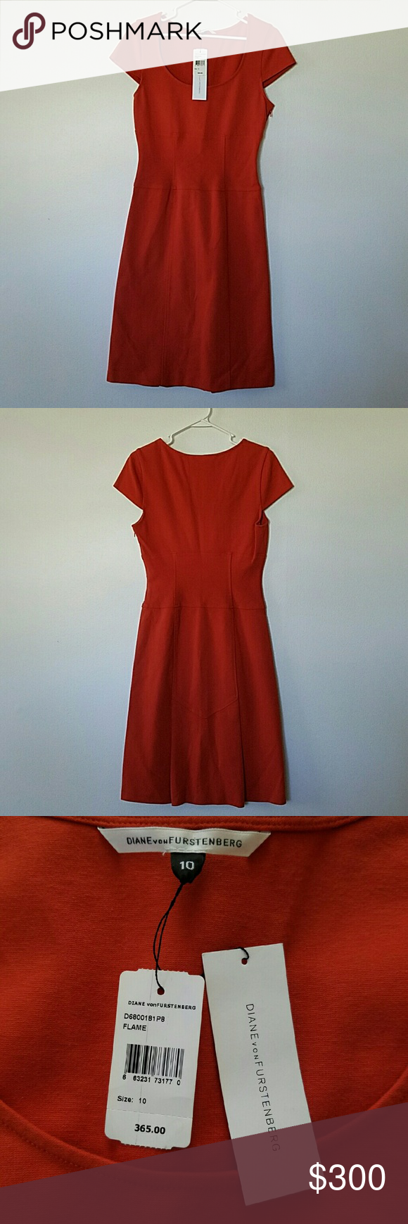 Diane von Furstenberg dress New with tags DVF dress. Size 10. Burnt orange. Diane von Furstenberg Dresses