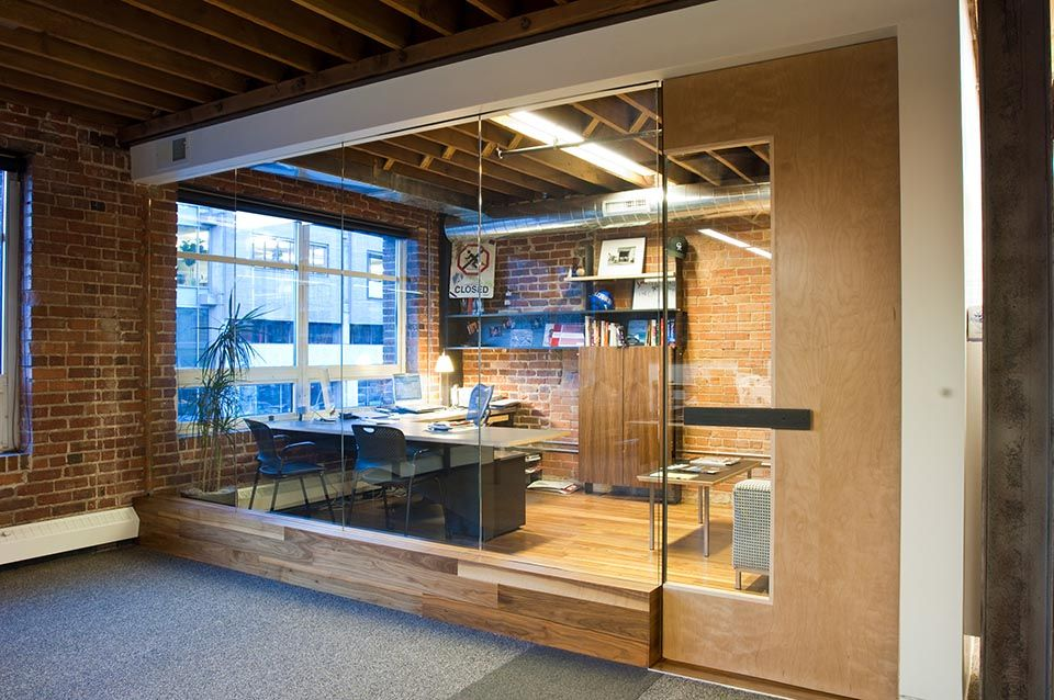 Glass office wall google search office pinterest Opening glass walls