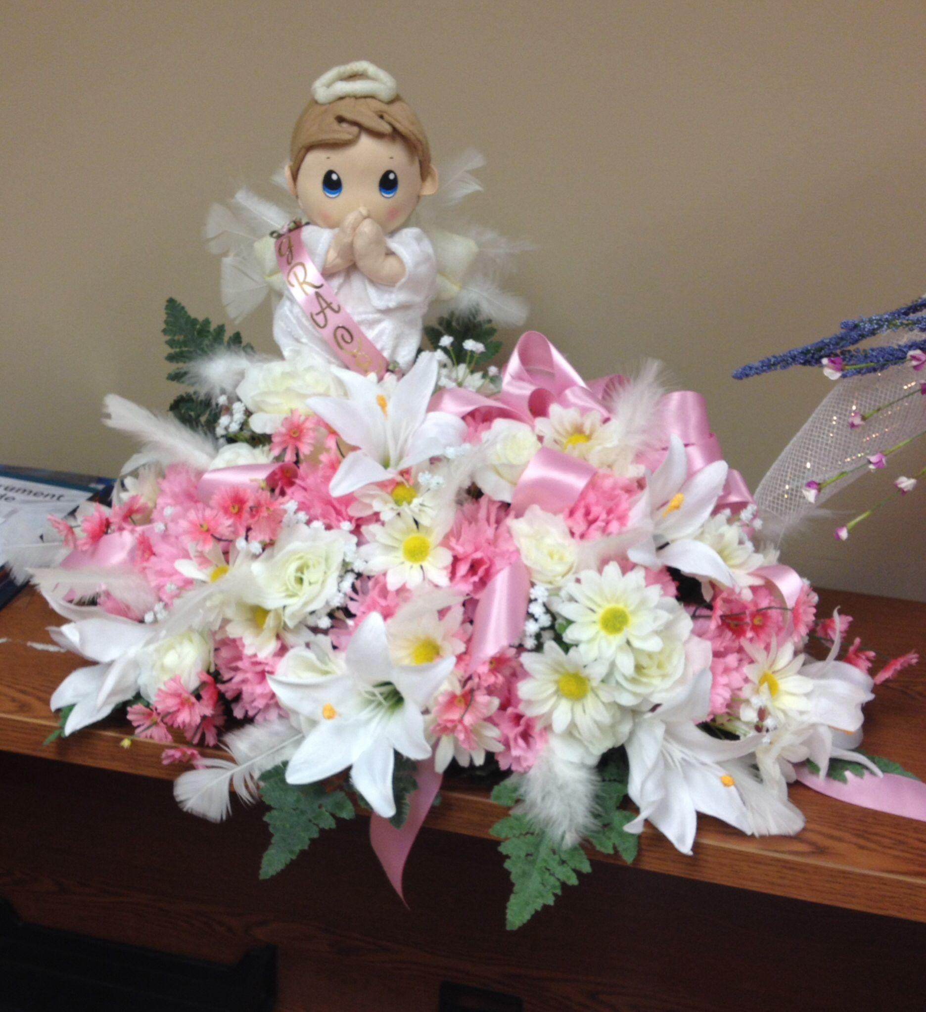 Infant Casket Spray Funeral Flowers Memorial Flowers Sympathy Flowers