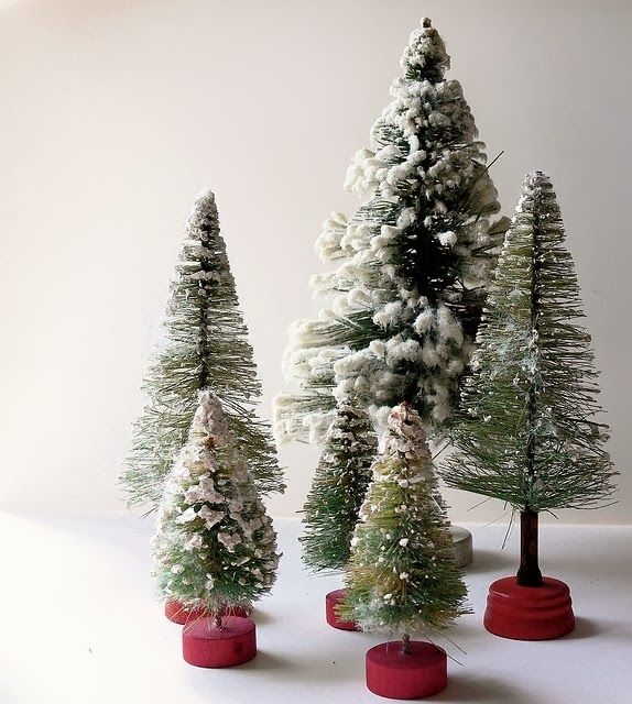 Love Bottle Brush Trees Christmas Decorations Bottle Brush Christmas Trees Christmas Crafts