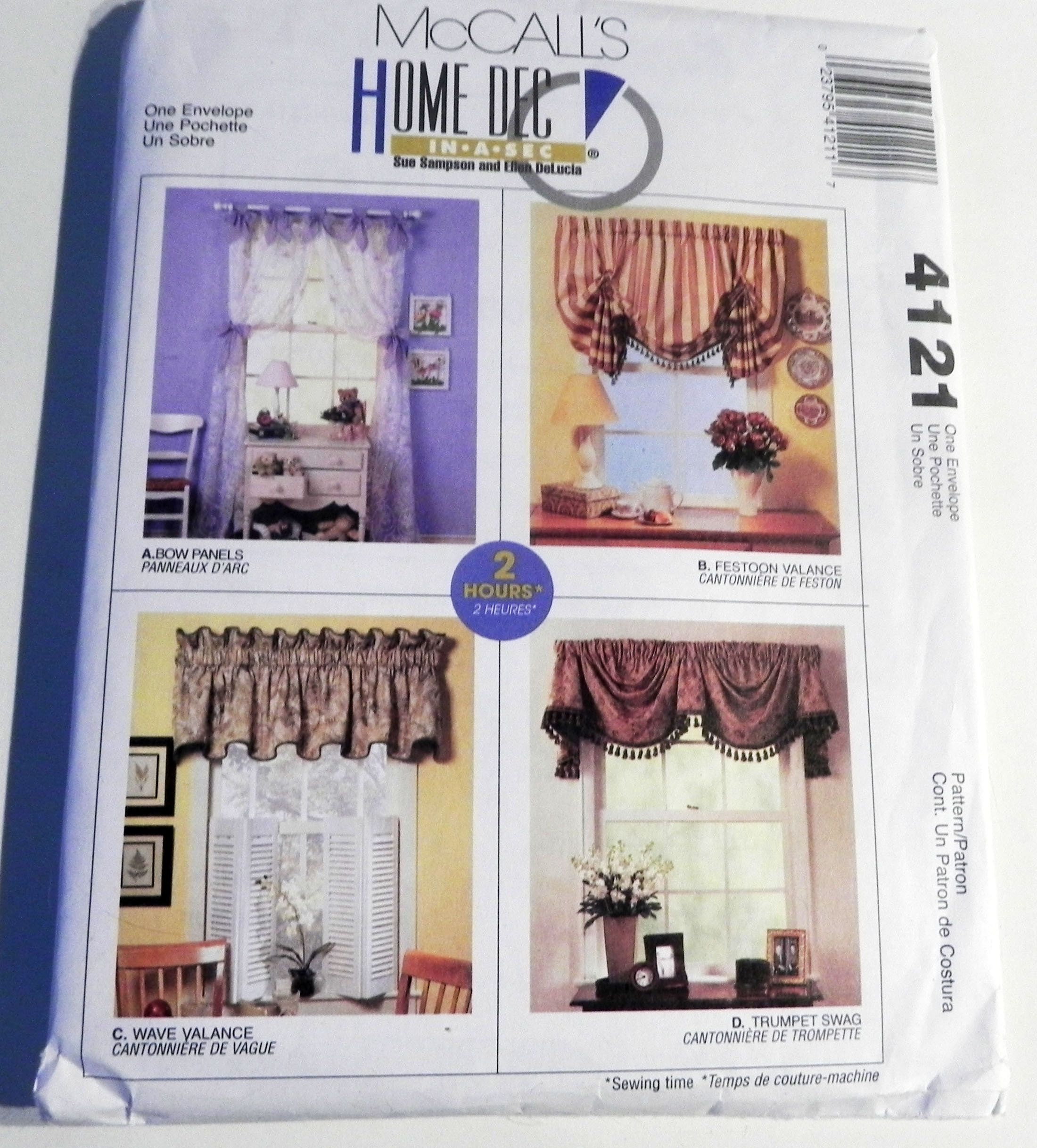 Curtains Window Treatments Valance Home Decor Dressing Swag In 2020 Crafts Sewing Patterns Curtains Window Treatments Mccalls Sewing Patterns