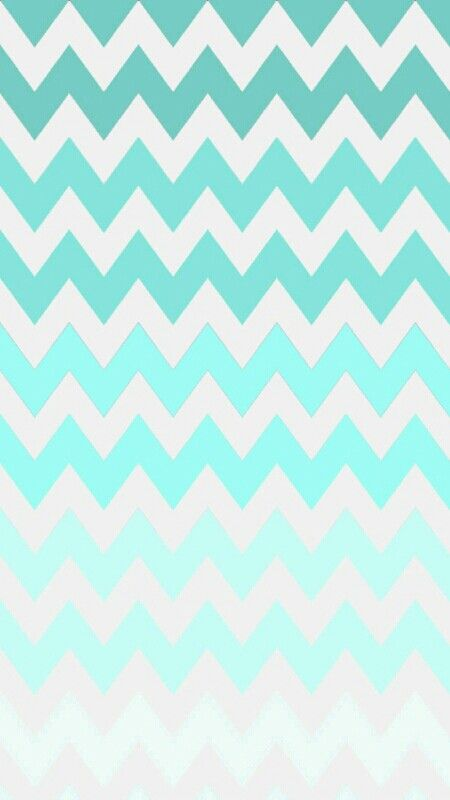 Turquoise Ombre Chevron Wallpaper