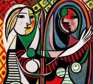 Девушка перед зеркалом, Пабло Пикассо - описание картины ...
