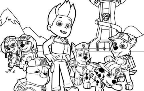 Quatang Gallery- Colouring Page Paw Patrol Coloring Pages Paw Patrol Coloring Cartoon Coloring Pages