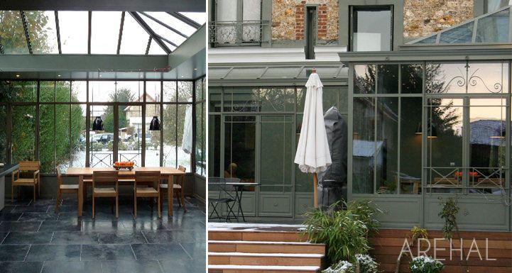Arehal v randa et verri re l 39 ancienne sur mesure en r gion parisienne - Veranda maison ancienne ...