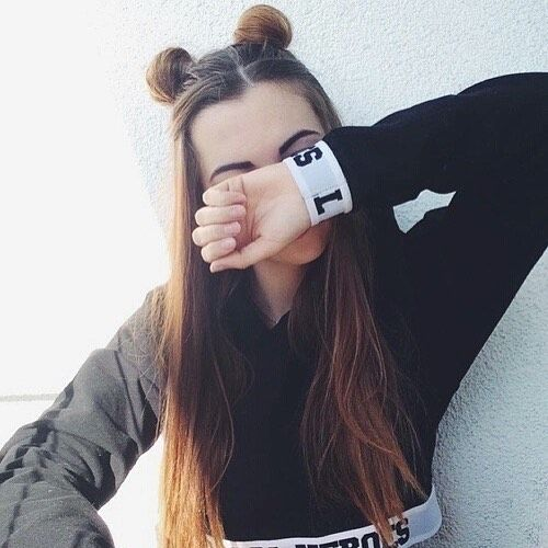 Little Buns ϸ� H A I R Pinterest Photography