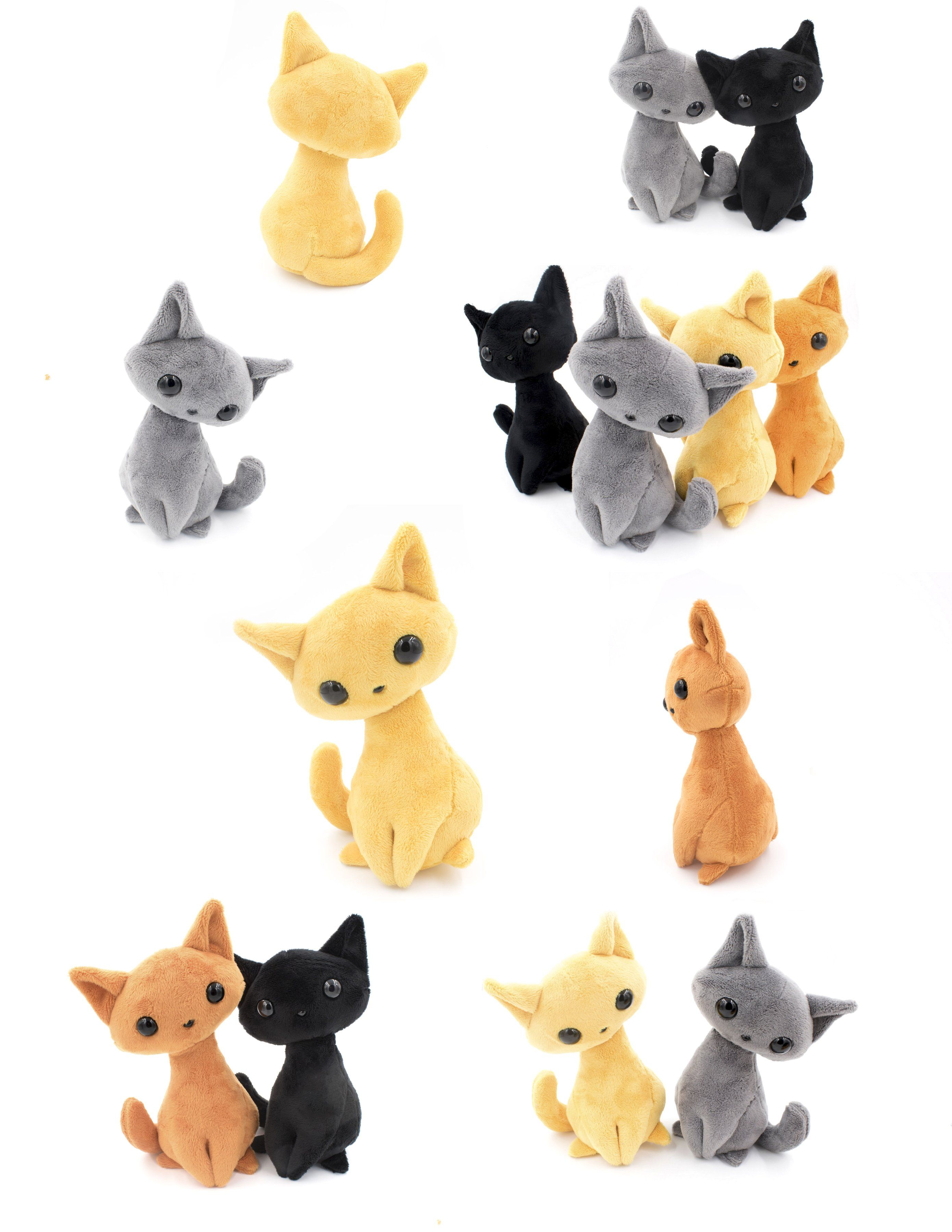 MAKE KIDS STUFFED ANIMAL TOYS SOFT~CLOTH~PLUSH CAT~FOX~BUNNY SEWING PATTERN