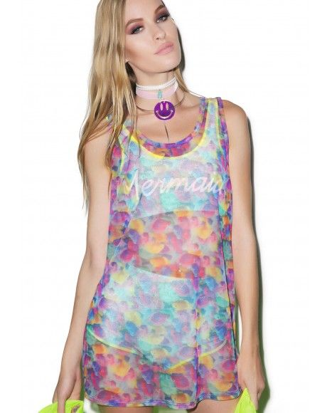 Hot!MeSS All Over Printed Vest