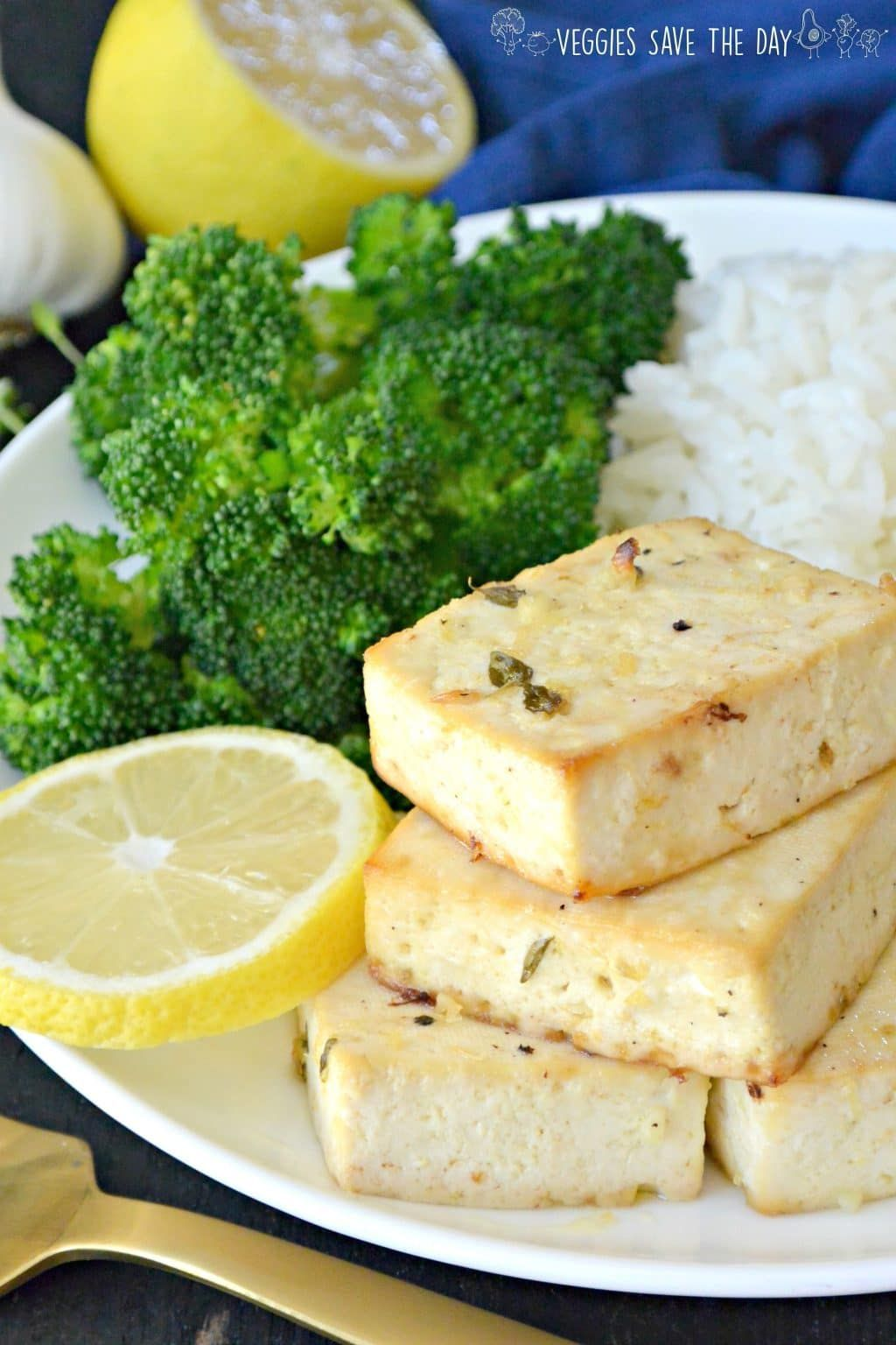 Baked Tofu Steaks with Lemon and Garlic Recipe (With