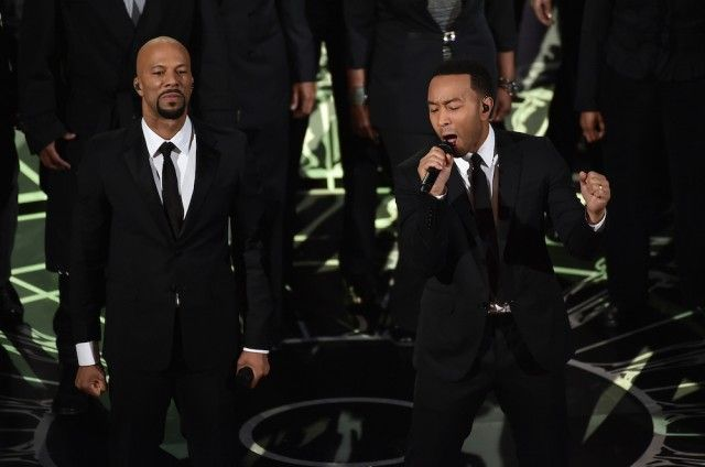 """John Legend & Common Perform Best Original Song Winner """"Glory"""" At The Oscars - """"This bridge was built on hope, welded with compassion and elevated with love for all human beings."""""""