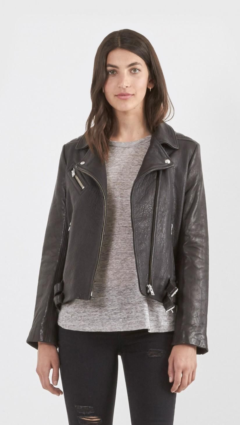 Iro Joneson Leather Jacket In Black Jackets Clothes Design Black Leather Jacket [ 1462 x 825 Pixel ]