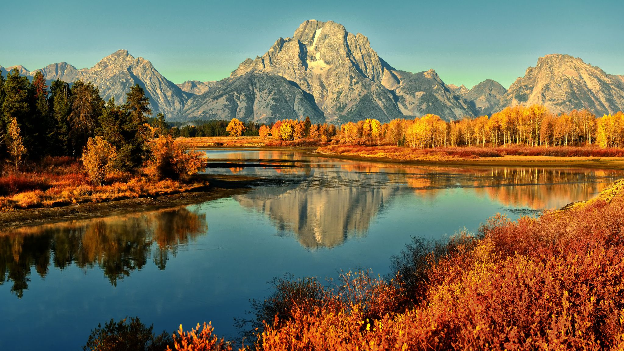 Autumn Mountain River Autumn Nature Desktop Wallpapers And