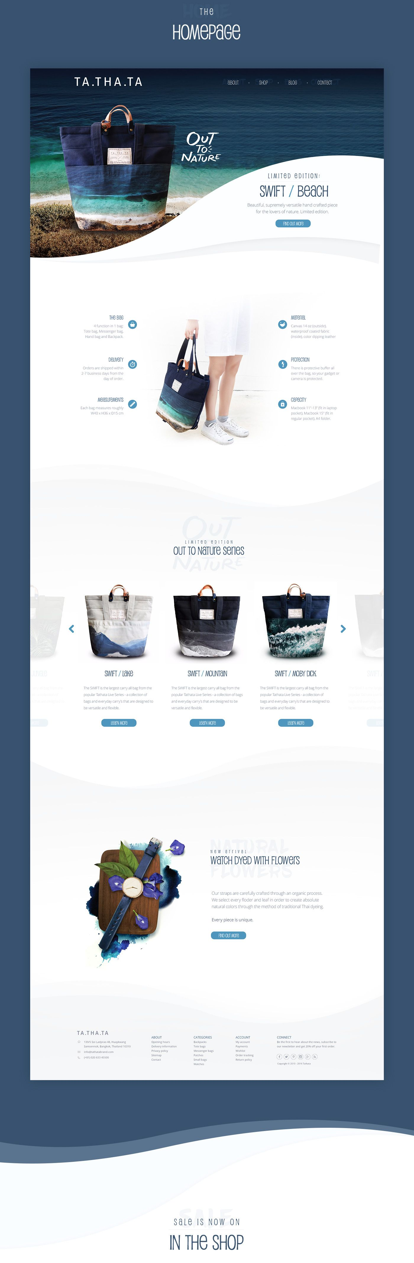 Personal Project For The Independent Accessories Brand Tathata This Is A Concept Project All Images Included Creative Web Design Web Layout Design Web Design