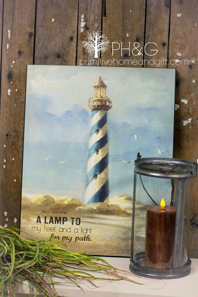 Nautical prints give any room such a refreshing look!  Find more at www.primitivehomeandgift.com