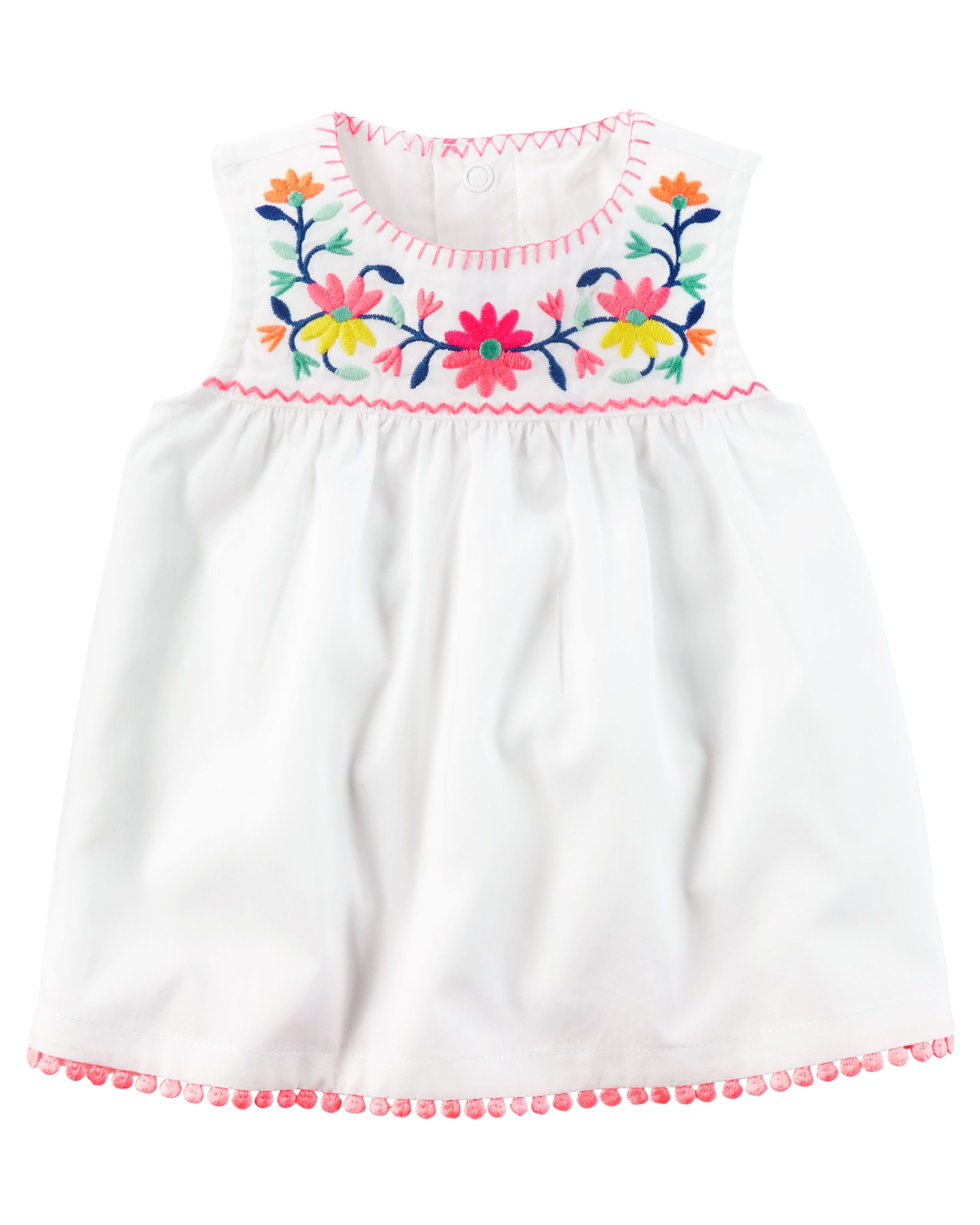 2df6c33c Baby Girl Floral Embroidered Babydoll Tank from Carters.com. Shop clothing  & accessories from a trusted name in kids, toddlers, and baby clothes.