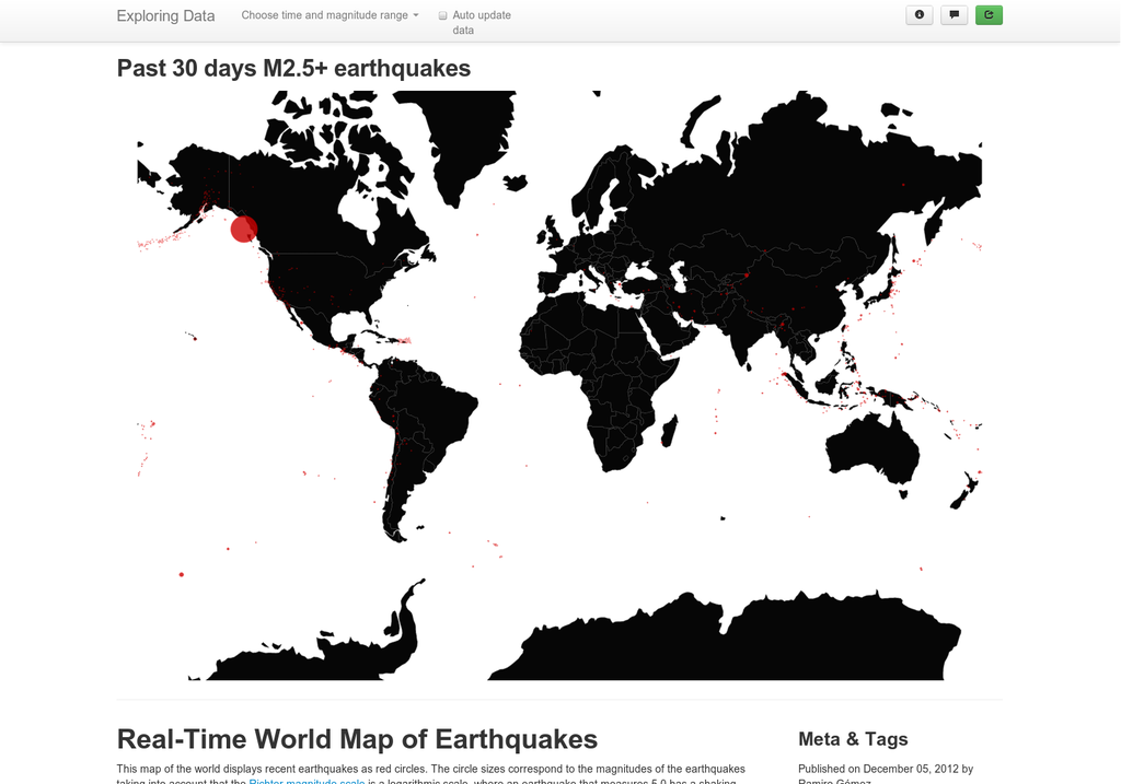 A geographic map of the world showing real time data for recent a geographic map of the world showing real time data for recent earthquakes rendered with the javascript library gumiabroncs Images