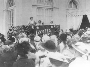 Women S Suffrage Rally At Marble House Lead By Alva Vanderbilt Belmont 1914 Then Wa Entirel Essay Contest College Example In History Woman